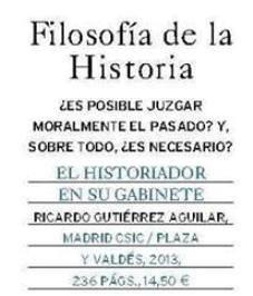 """Imagen destacada Reseña de """"EL HISTORIADOR EN SU GABINETE"""" en la revista LA AVENTURA DE LA HISTORIA"""