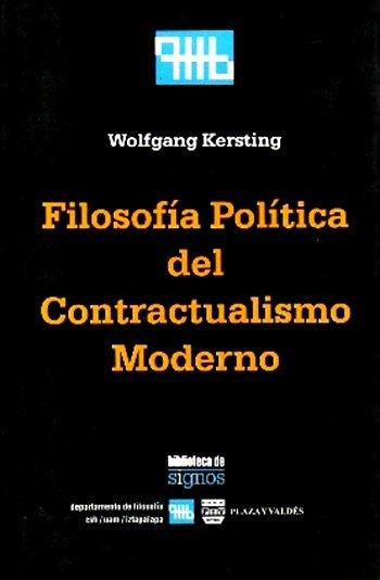 Portada FILOSOFÍA POLÍTICA DEL CONTRACTUALISMO MODERNO
