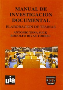 Portada MANUAL DE INVESTIGACIÓN DOCUMENTAL