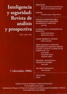 Portada INTELIGENCIA Y SEGURIDAD: REVISTA DE ANÁLISIS Y PROSPECTIVA. Nº 1