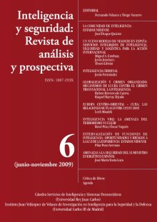 Portada INTELIGENCIA Y SEGURIDAD: REVISTA DE ANÁLISIS Y PROSPECTIVA. Nº 6
