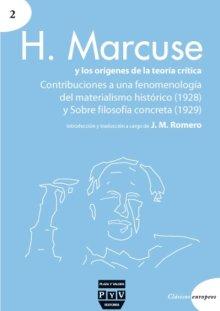 Portada H. MARCUSE Y LOS ORÍGENES DE LA TEORÍA CRÍTICA