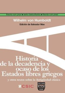 Portada HISTORIA DE LA DECADENCIA Y OCASO DE LOS ESTADOS LIBRES GRIEGOS