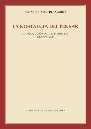 Portada LA NOSTALGIA DEL PENSAR