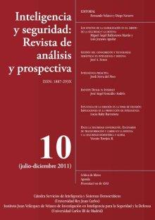 Portada INTELIGENCIA Y SEGURIDAD: REVISTA DE ANÁLISIS Y PROSPECTIVA. Nº 10
