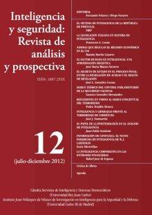 Portada INTELIGENCIA Y SEGURIDAD: REVISTA DE ANÁLISIS Y PROSPECTIVA. Nº 12