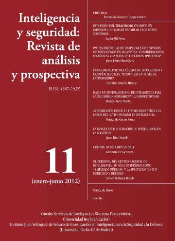 Portada INTELIGENCIA Y SEGURIDAD: REVISTA DE ANÁLISIS Y PROSPECTIVA. Nº 11