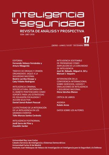 Portada INTELIGENCIA Y SEGURIDAD: REVISTA DE ANÁLISIS Y PROSPECTIVA. Nº 17