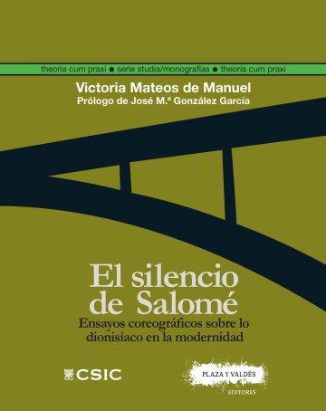 Portada EL SILENCIO DE SALOMÉ